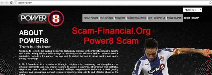 Power8 Scam another project of Big Scam Cartel
